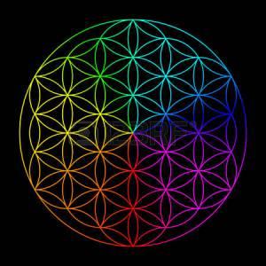 Flower of Life Rainbow
