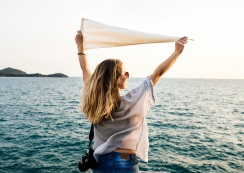 Woman holiday journey travel relaxation