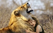 Little Girl with Lion